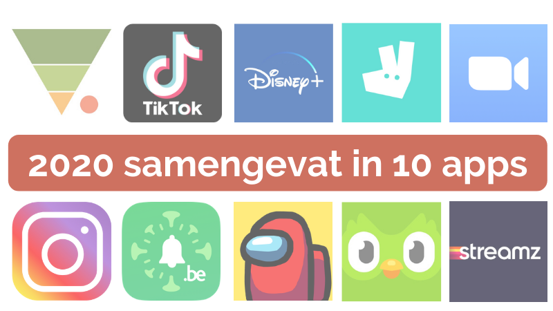 2020 samengevat in 10 apps